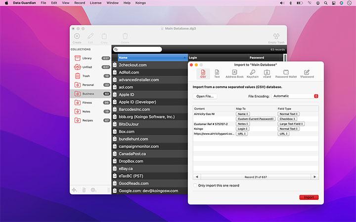 Koingo Software, Inc  | Data Guardian 4 for Mac & PC
