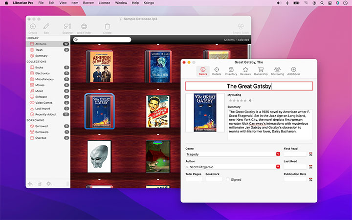 Koingo Software, Inc  | Librarian Pro 5 for Mac & PC: Personal